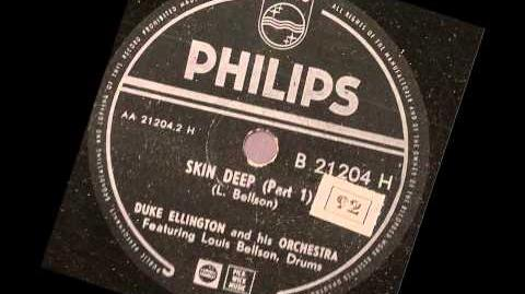 Duke Ellington Orchestra feat Louie Bellson -- Skin Deep -- part 1 and 2 -- 78 rpm 1952