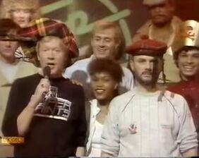 1983-03-23 JP and DJ Scottish hats