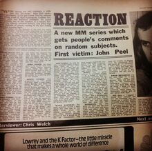 Reaction - Melody Maker 14th Nov 1970