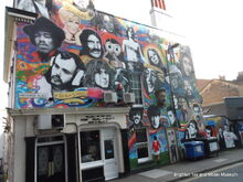 Icons mural, Prince Albert public house, Brighton