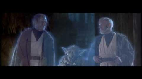 Return of the Jedi - Sebastian Shaw as the ghost of Anakin Skywalker