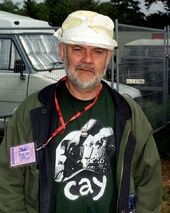 DJ John Peel during the 1999 Glastonbury Festival