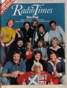 1977-10-01 Radio Times cover Radio One 10 years old DJs