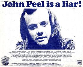 John Peel is a Liar Dandelion advert