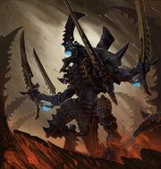 Tyranid swarmlord by sarahjaneart-d6kyyhn