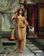 Justitia, Roman goddess of Justice MMX