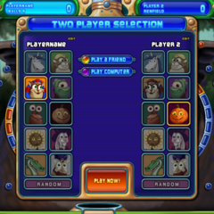 Character selection in Duel Mode