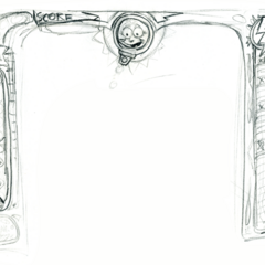 Concept sketches for the game layout