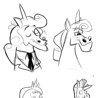 Concept sketches for <i>Peggle 2</i>