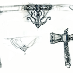 Early concept sketches for the ball shooter