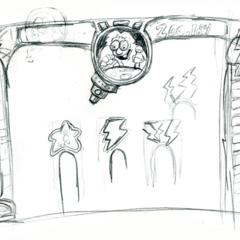 More concept sketches for the game layout