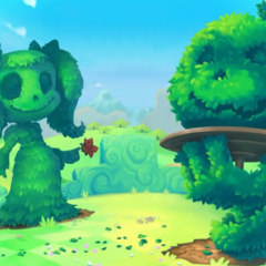 Bushes shaped in the form of Luna, <a href=