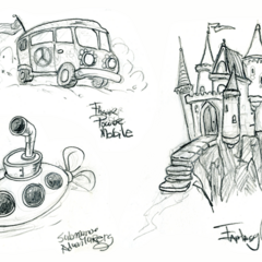 Concept sketches for locations