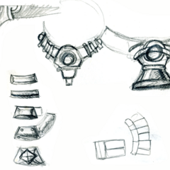 Concept sketches for the ball shooter