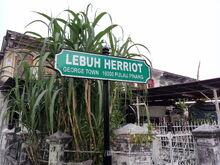 Herriot Street sign, George Town, Penang