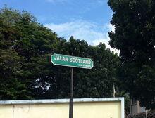 Scotland Road sign, George Town, Penang