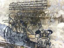 Ironsmith wrought iron sculpture, Toh Aka Lane, George Town, Penang