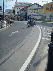 Old tram tracks, George Town, Penang