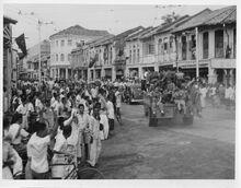 Royal Marines in George Town, Penang