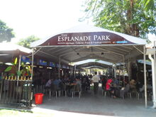 The Esplanade Park hawker centre, George Town, Penang