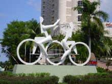 Cyclist sculpture, Tanjung Bungah, George Town, Penang