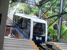 Funicular to the top of the Penang Hill, Georgetown, Penang, Malaysia