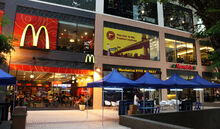 Alfresco restaurants, Gurney Plaza, George Town, Penang