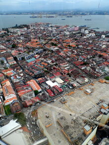 View from KOMTAR 59 Sixty Restaurant, George Town, Penang