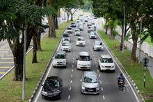 Traffic jam at Green Lane, George Town, Penang