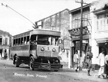 Trolleybus, George Town, Penang