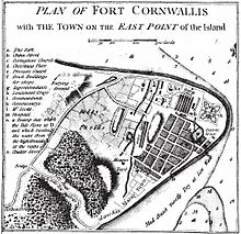 Old map of George Town, Penang