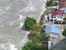2004 tsunami at Tanjung Bungah, George Town, Penang