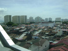 View of Seven Streets Precint & Jelutong suburb, 1st. Avenue Mall, George Town, Penang
