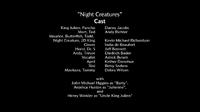 Night Creatures voice cast