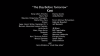 The Day Before Tomorrow voice cast