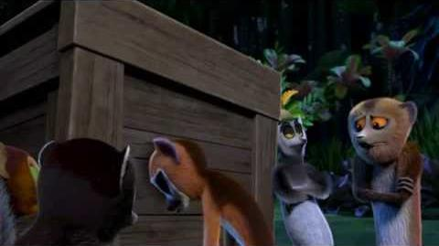 Mort stands guard. (All hail King Julien)-(HD)