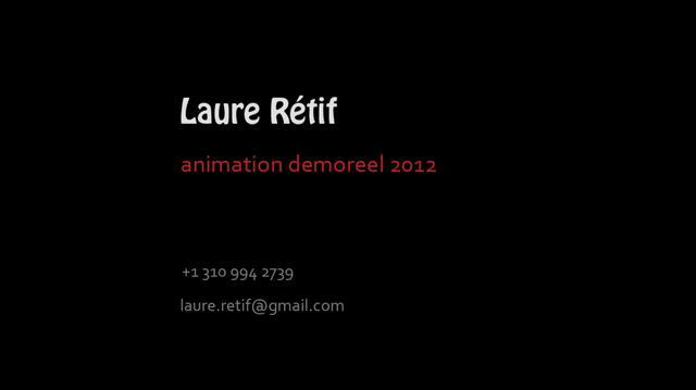 Animation reel 2012