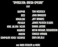 OperationBreakSpeare-Credits