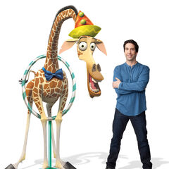 Melman and his voice, David Schwimmer