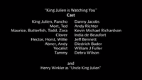 King Julien is Watching You voice cast