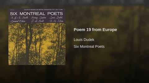 Poem 19 from Europe