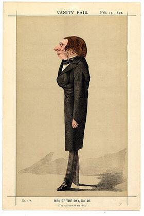 Vanity Fair Caricature of Ruskin
