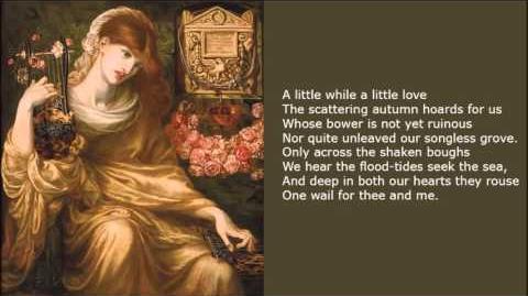 A Little While by Dante Gabriel Rossetti