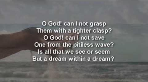 Edgar Allan Poe ~ A Dream Within A Dream, Poem with text