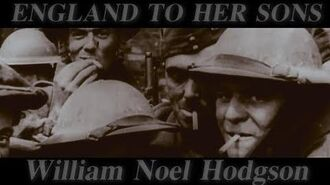 England to her Sons (William Noel Hodgson Poem)