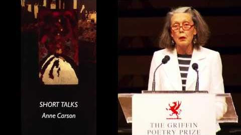 Poet Anne Carson reads at the 2014 Griffin Poetry Prize readings event