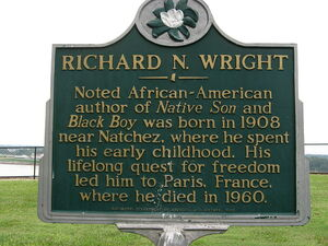 800px-Richard N Wright historic birthplace marker in Natchez MS