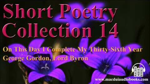 On this day I complete my 36th year poem by George Gordon Lord Byron Short Poetry Collection 14