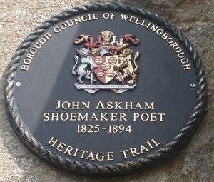 John Askham plaque