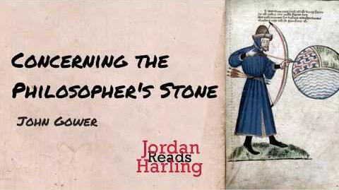 Concerning the Philosopher's Stone - John Gower poem reading Jordan Harling Reads